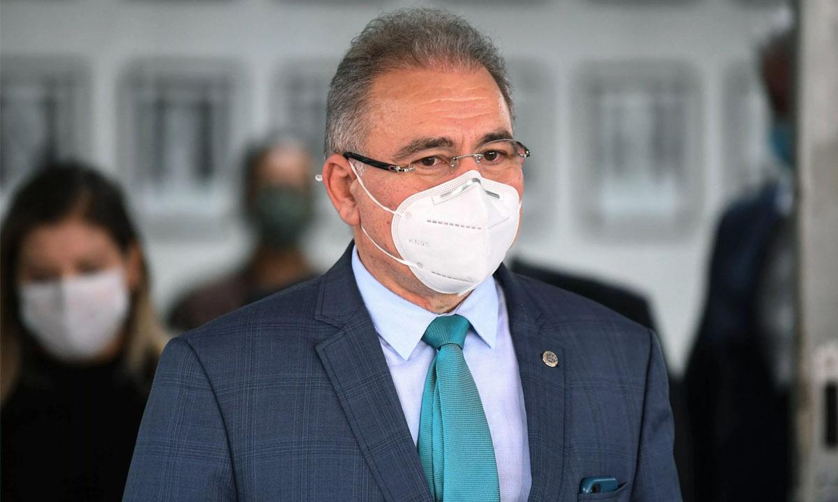 O ministro da Saúde, Marcelo Queiroga. Foto: Evaristo Sá/AFP