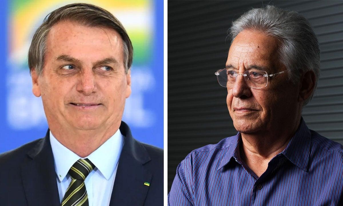 Jair Bolsonaro e FHC. Fotos: Evaristo Sá/AFP e Yasuyoshi Chiba/AFP