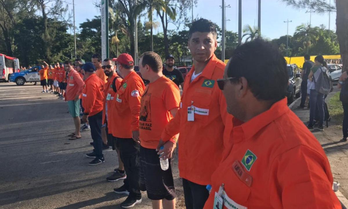 Petroleiros realizaram greve nacional dos petroleiros em fevereiro de 2020, em 121 unidades do Sistema Petrobras. Foto: Federação Única dos Petroleiros