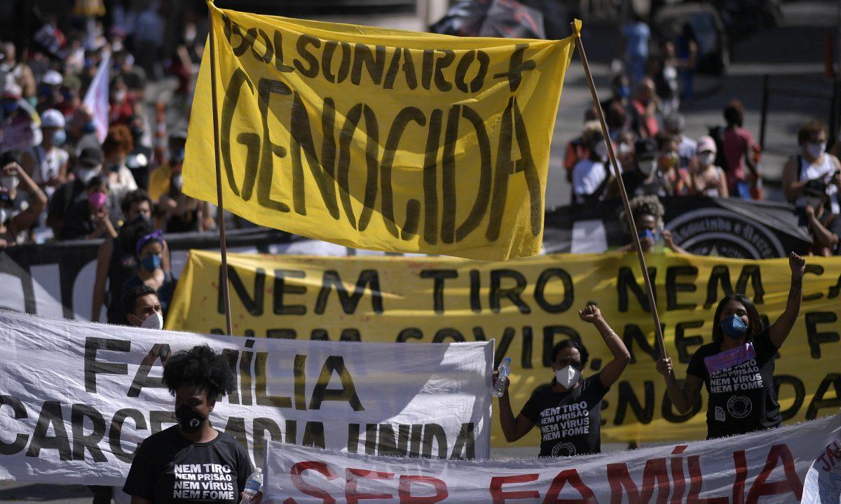 Protesto do dia 29 de maio em Belo Horizonte (Foto: DOUGLAS MAGNO / AFP)