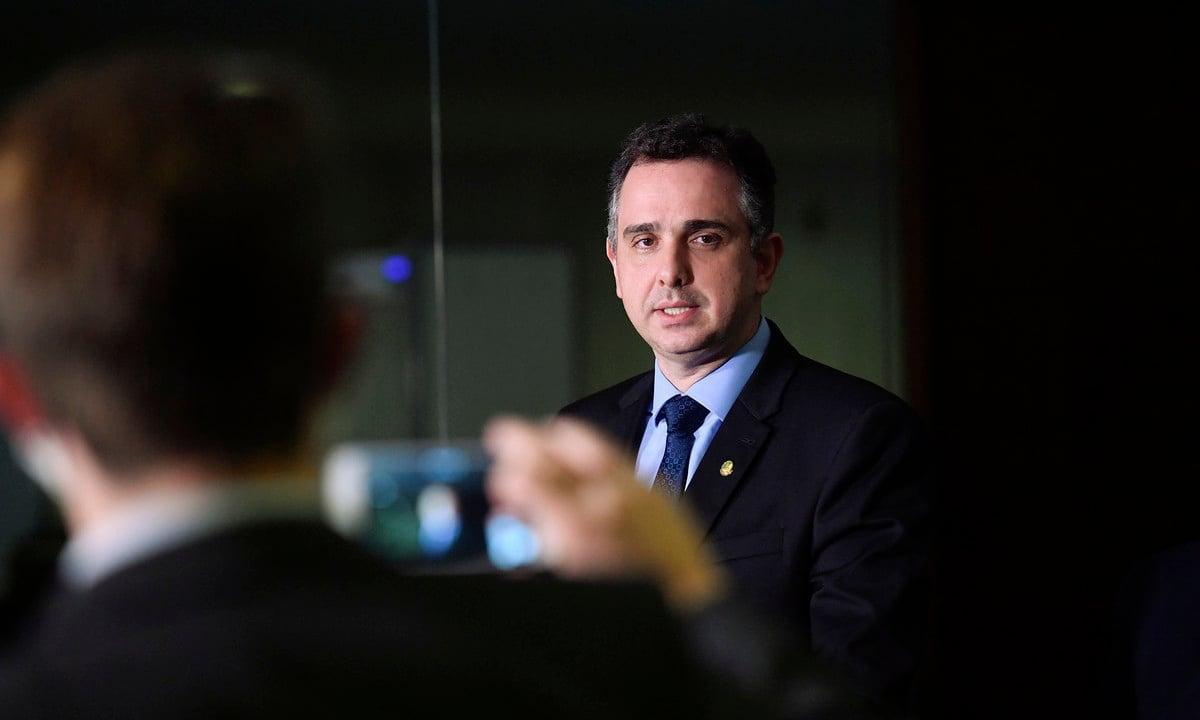 O presidente do Senado, Rodrigo Pacheco (DEM-MG). Foto: Marcos Brandão/Agência Senado