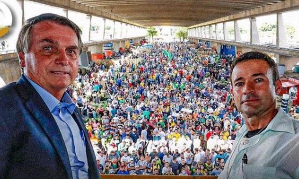 Bolsonaro e Mello Araújo no Ceagesp. Foto: Reprodução/Instagram