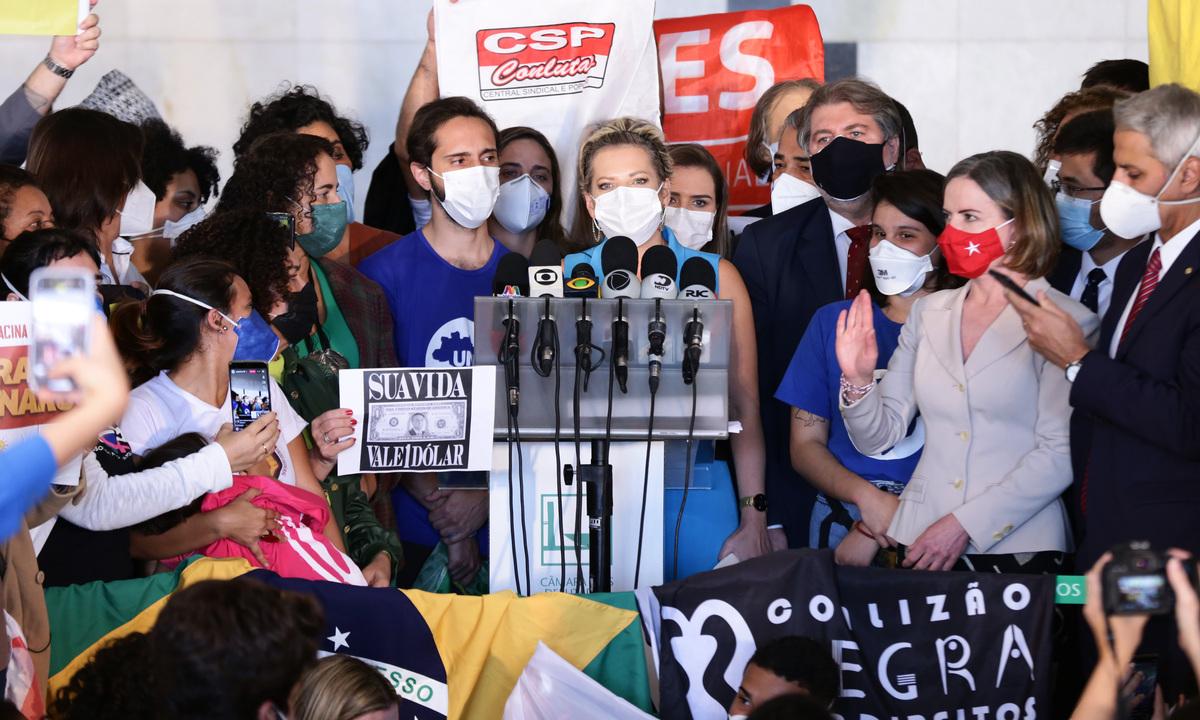 A deputada Joice Hasselmann (PSL-SP) foi uma das integrantes do super pedido de impeachment, que envolveu parlamentares da direita à esquerda. Foto: Cleia Viana/Câmara dos Deputados