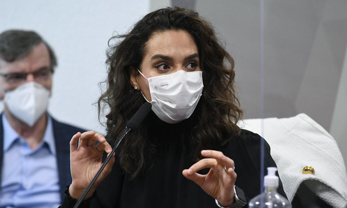 A médica infectologista Luana Araújo. Foto: Jefferson Rudy/Agência Senado