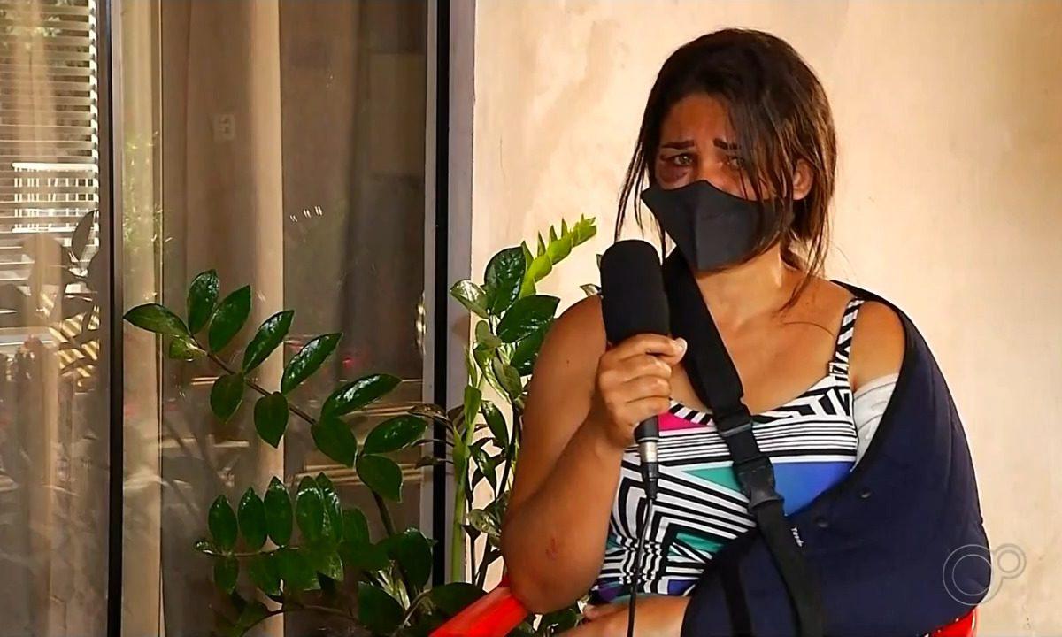 Adriana Araújo da Silva teve que passar por uma cirurgia  Foto: Reprodução/TV TEM