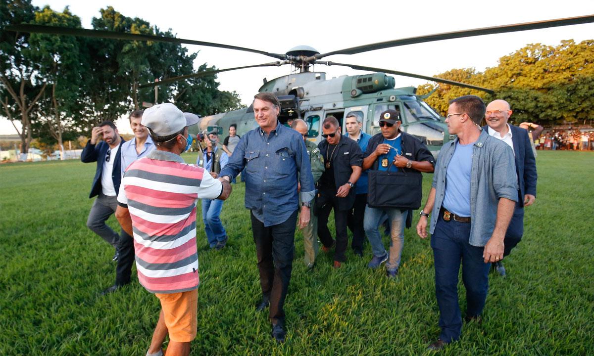 O presidente Jair Bolsonaro durante passagem por Goiás no dia 9 de junho de 2021. Foto: Alan Santos/PR