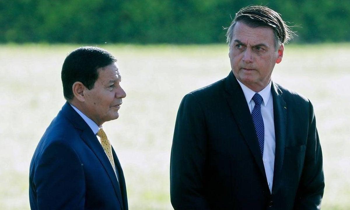 Hamilton Mourão e Jair Bolsonaro. Foto: Sergio Lima/AFP