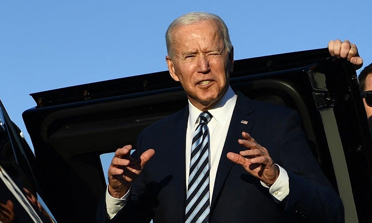 Presidente dos EUA Joe Biden chega ao Reino Unido para reunião do G7 (Foto: Brendan Smialowski / AFP)