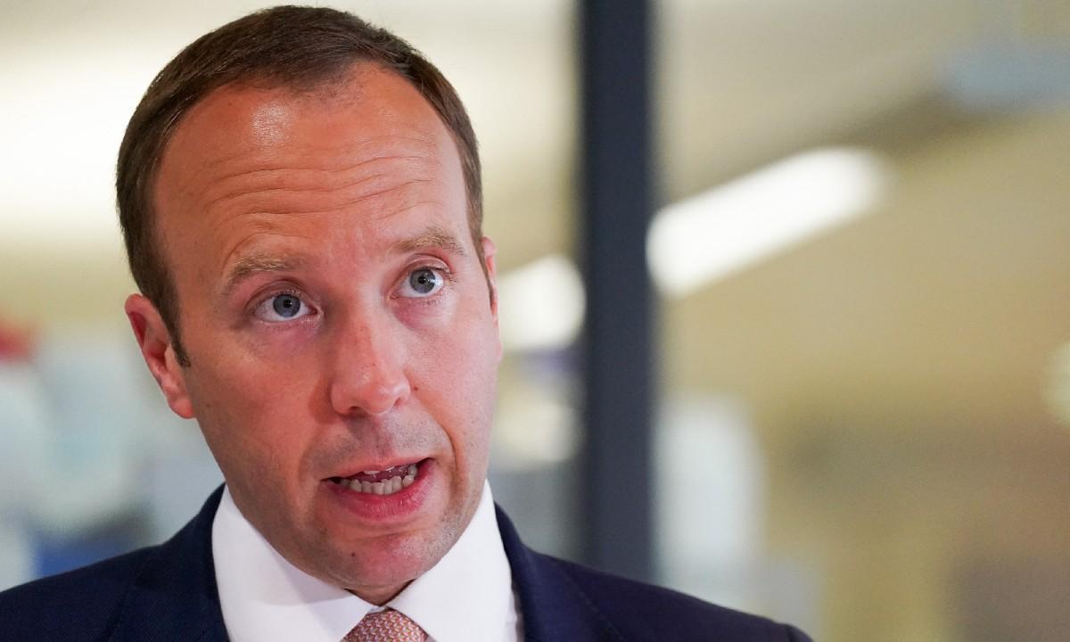 Ministro da Saúde britânico, Matt Hancock (Foto: Jacob King / POOL / AFP)
