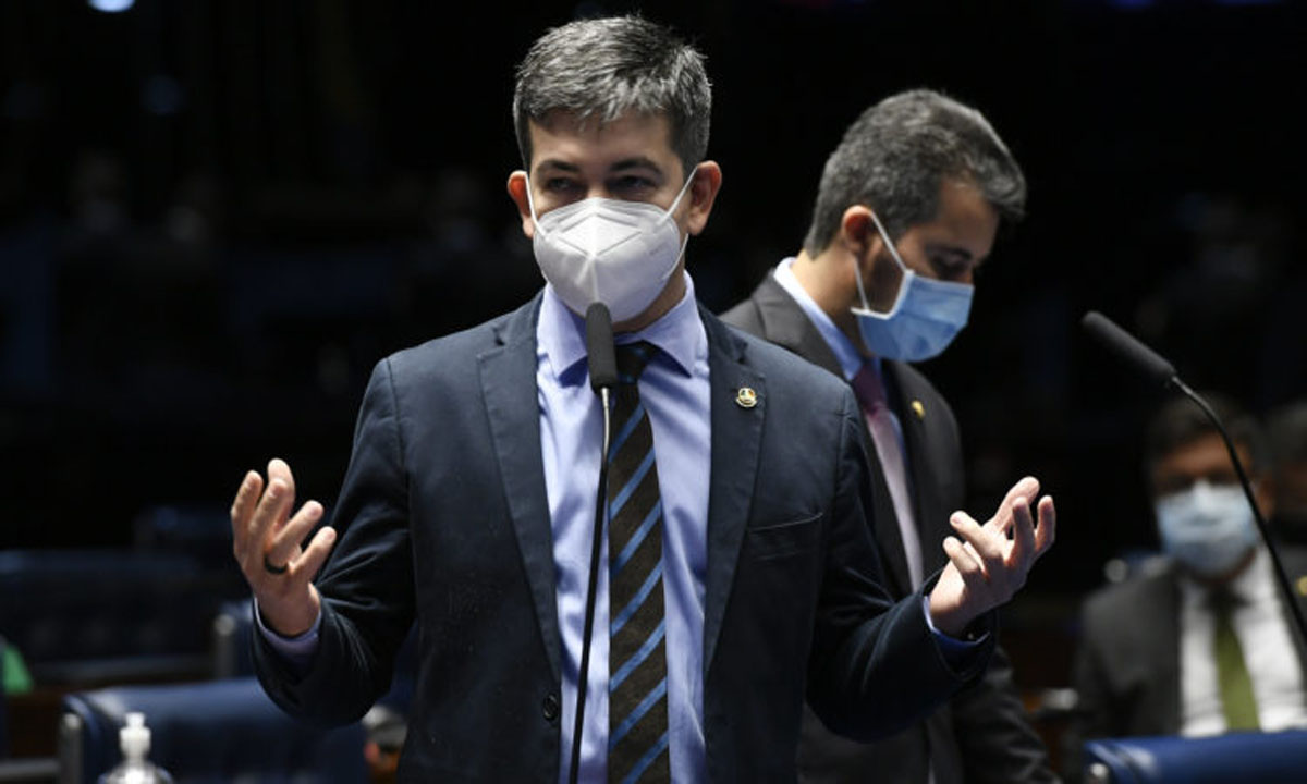 O senador Randolfe Rodrigues. Foto: Edilson Rodrigues/Agência Senado